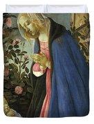 The Virgin Adoring The Sleeping Christ Child Duvet Cover