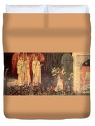 The Vision Of The Holy Grail To Sir Galahad Sir Bors And Sir Perceval Duvet Cover
