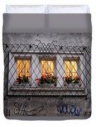 The Windows Of Sofia Duvet Cover