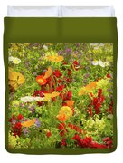 The World Laughs In Flowers - Poppies Duvet Cover