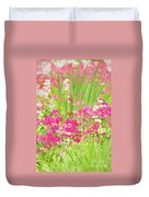 The World Laughs In Flowers - Primula Duvet Cover