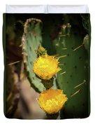 The Yellow Rose Of Arizona Duvet Cover by Rick Furmanek