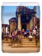 They Come To See Angkor Wat, Siem Reap, Cambodia Duvet Cover