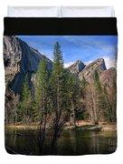 Three Brothers, Yosemite National Park Duvet Cover