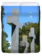 Three Crosses Duvet Cover
