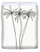 Three Tall Palm Trees- Art By Linda Woods Duvet Cover by Linda Woods
