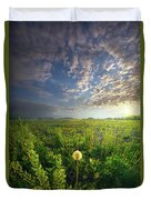 Through Strength Of Faith Duvet Cover