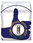 Thumbs Up Kentucky Duvet Cover