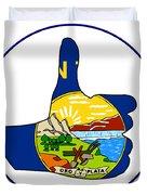 Thumbs Up Montana Duvet Cover