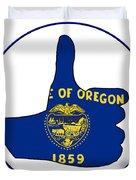 Thumbs Up Oregon Duvet Cover