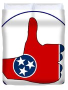 Thumbs Up Tennessee Duvet Cover