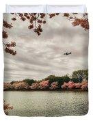 Tidal Basin Blossoms Duvet Cover