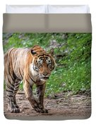Tiger On A Stroll Duvet Cover