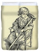 Tiny Tim From A Christmas Carol By Charles Dickens Duvet Cover
