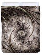 Titanium Double Fractal Spiral Duvet Cover