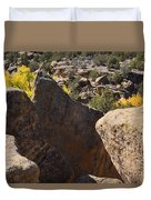 Top Of Rocks Above Canyon In Fall Duvet Cover
