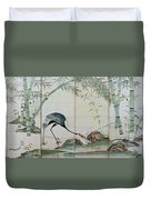 Top Quality Art - Cranes Pines And Bamboo Duvet Cover