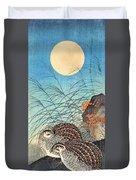 Top Quality Art - Moon And  Quail Duvet Cover