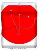 Toronto Red Subway Map Duvet Cover