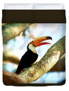 Toucan On A Tree Duvet Cover