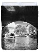 Tourboat On Amsterdam Canal Duvet Cover