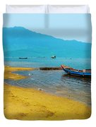Tourists In Lang Co 2 - Hue, Vietnam Duvet Cover