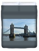 Tower Bridge At Afternoon In London Duvet Cover