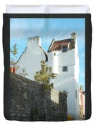 towerhouse and turret at Culross Duvet Cover