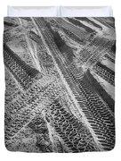 Tracks In The Sand Duvet Cover