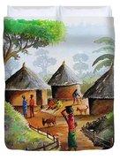 Traditional Village Duvet Cover