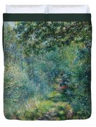 Trail In The Woods Duvet Cover