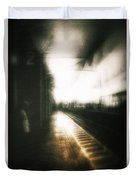 Train To The Fourth Dimension Duvet Cover
