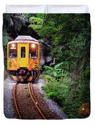 Train With Tunnel Of Pingxi Line, Taiwan Duvet Cover