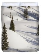 Trees And Shadows Duvet Cover