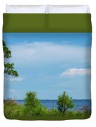 Trees By The Water Duvet Cover