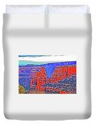 Trees Plateau Valley Color 2871ado National Monument  Duvet Cover
