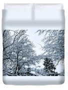 Trees With Snow Duvet Cover