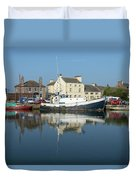 Trefusis Gy242 At Glasson Dock Duvet Cover