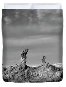 Tres Marias Black And White Moon Valley Chile Duvet Cover