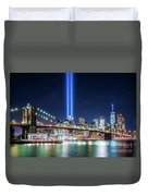 Tribute In Light From Brooklyn 1 Duvet Cover