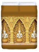 Triple Buddhas, Thailand Duvet Cover