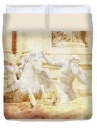 Triton And Horse Duvet Cover
