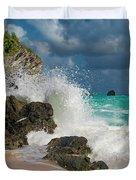 Tropical Beach Splash Duvet Cover