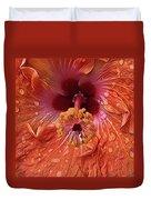 Tropical Hibiscus Duvet Cover