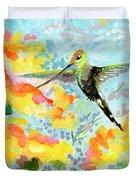 Tropical Hummingbird Duvet Cover