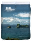 Tropical Island In The Ocean Duvet Cover