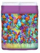 Tropical Print Balloons Duvet Cover