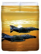Trouble On The Horizon Duvet Cover