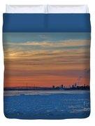 Tundra Swan Niagara Sunset Duvet Cover