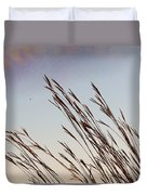 Turkey Foot Grass At Sunset Duvet Cover